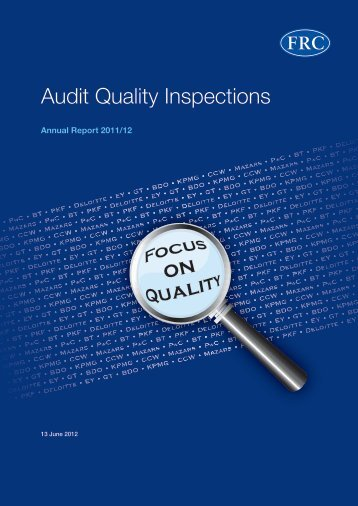 Audit Quality Inspections - Accountancy Nieuws