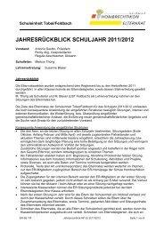 Jahresrückblick Schuljahr 2011/2012 - Schule Hombrechtikon