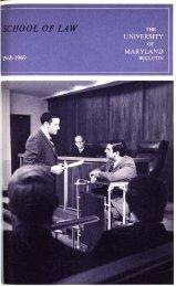 University of Maryland School of Law : Catalog, 1968-1969
