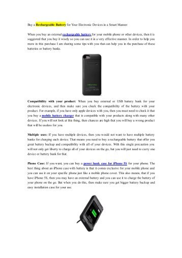 Buy a Rechargeable Battery for Your Electronic Devices in a Smart Manner.pdf