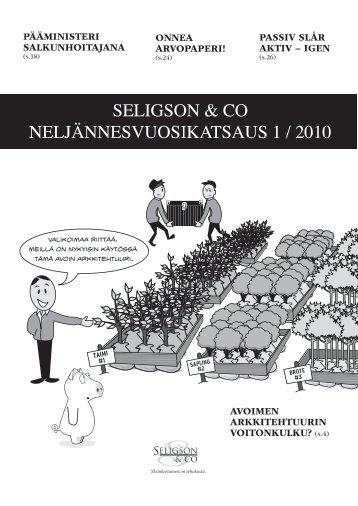 katsauksessamme 1/2010 (sivulla 13) - Seligson & Co
