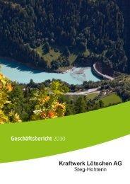 Geschäftsbericht 2010 - EnAlpin AG