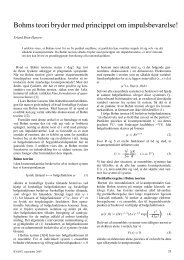 Bohms teori bryder med princippet om impulsbevarelse! - Kvant