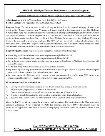 Information and application. - Clinton County