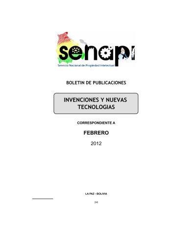 Patentes - Servicio Nacional de Propiedad Intelectual