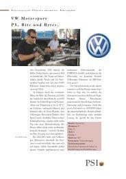 VW Motorsport PS, Bits und Bytes. - Psipenta Software Systems GmbH
