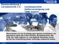 Landessprecher, Helfervereinigung und THW-Jugend - THW Gst ...