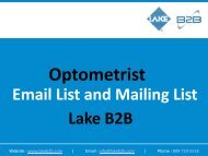 Reach highly skilled optometrists globally with Optometrist Email Lists