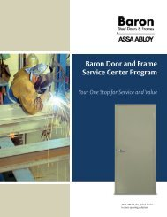 Baron Door and Frame Service Center Program - ASSA ABLOY ...