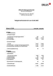 Halbjahresfinanzbericht per 30.06.2008 - Erlus AG