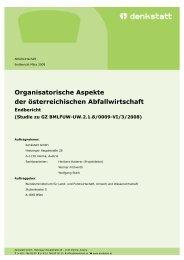 Organisatorische Aspekte der österreichischen ... - Denkstatt