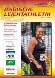 Badische Leichtathletik - Heft 1-2014