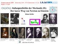 Der kurze Weg von Newton zu Einstein - Institut für Allgemeine ...