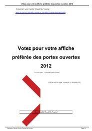 Votez pour votre affiche préférée des portes ouvertes 2012