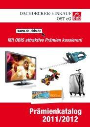 Prämienkatalog 2011/2012 - Dachdecker-Einkauf Ost eG