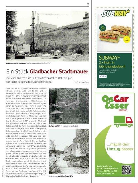 Ein Stück Gladbacher Stadtmauer