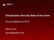 Virtualization Security State of the Union - 2010 - Ruxcon