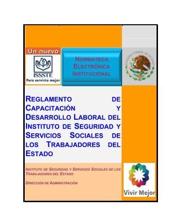 reglamento de capacitación y desarrollo laboral del ... - ISSSTE