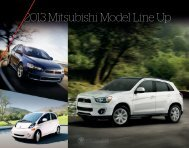 2013 Mitsubishi Model Line Up