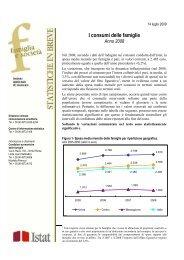 I Consumi Delle Famiglie Anno 2008 - Cultura in Cifre - Istat