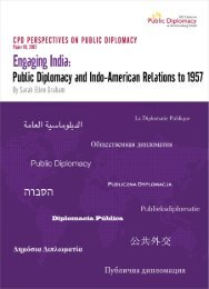 engaging india: public diplomacy and indo-american relations to 1957