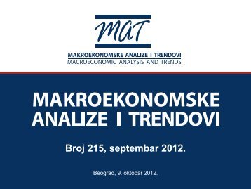 Prezentacija 215. broja časopisa ... - Ekonomski institut