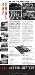 Plakat zur Sonderausstellung - Museum Herisau - Seite 2