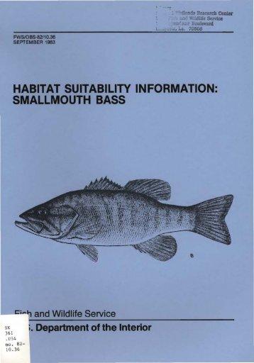 habitat suitability information: smallmouth bass - USGS National ...