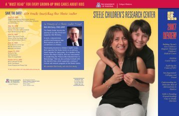 Read More - the Steele Children's Research Center - University of ...