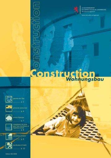 prime de construction - Ministère du logement