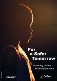For a Safer Tomorrow - Oxfam International