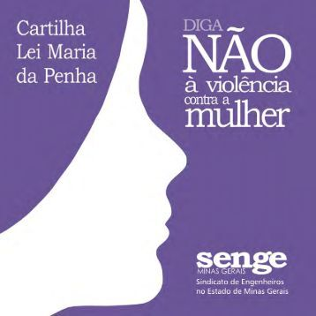 Cartilha Lei Maria da Penha • 1 - Senge-MG