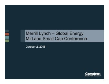 Merrill Lynch – Global Energy Mid and Small ... - Rational Investing