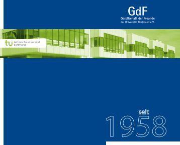"""Die Broschüre """"50 Jahre GdF"""" - TU Dortmund"""