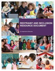 Restraint and Seclusion: Resource Document. (PDF) - AAPD