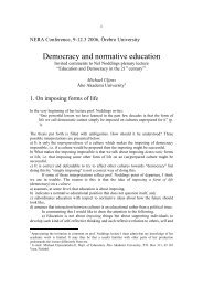 Democracy and normative education - Åbo Akademi
