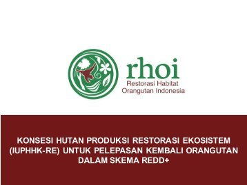 RHOI ERC on Production Forest Concession to Release Orangutan ...