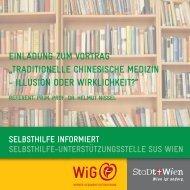 einladung zum vortrag - Wiener Gesundheitsförderung