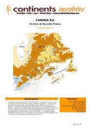 CANADA Est - Continents Insolites
