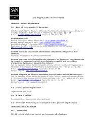 Travaux de réhabilitation des réseaux d'assainissement suite à ...