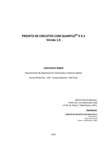 PROJETO DE CIRCUITOS COM QUARTUS II 9.1 ... - PCS - USP