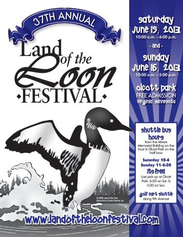 2013 Festival Guide - Land of the Loon Festival