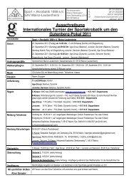 Ausschreibung Internationales Turnier um den Gutenberg-Pokal 2011