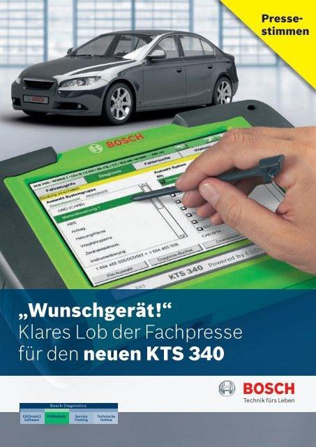 Klares Lob der Fachpresse für den neuen KTS 340 - Bosch ...