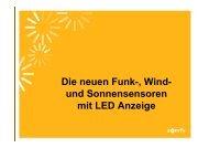 und Sonnensensor Soliris Sensor RTS LED mit ... - Somfy