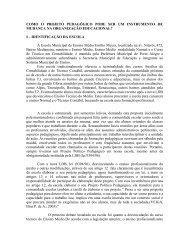 i – identificação da escola ae - Prefeitura Municipal de Porto Alegre