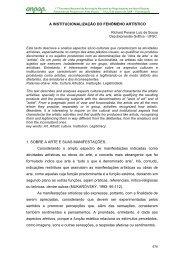 A INSTITUCIONALIZAÇÃO DO FENÔMENO ARTÍSTICO 1 ... - anpap