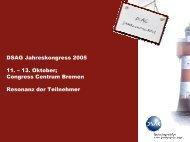 DSAG Jahreskongress 2005 11. - SAP Arbeitskreis Nord
