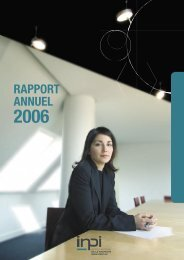 Rapport annuel 2006 - Inpi