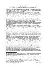 Jahresbericht 2006 - Evangelische Krankenhausseelsorge in ...